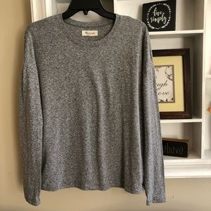 Madewell gray long sleeve tee shirt, size S